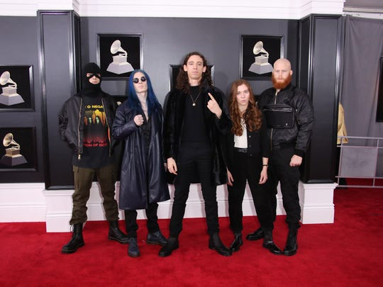 Code Orange arrives at the 60th Annual Grammy Awards at Madison Square Garden.