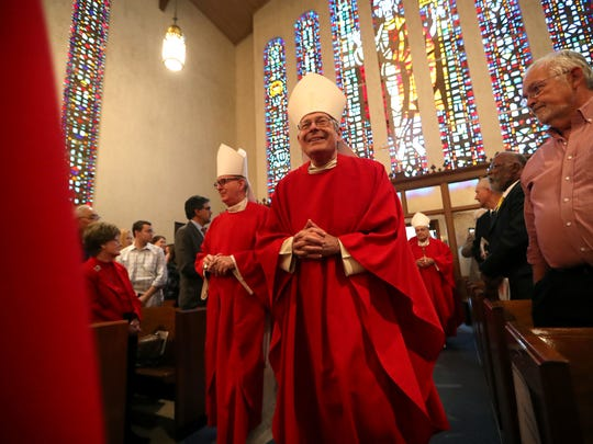 Catholic bishops of Florida, elected officials and members of the community at the 43rd annual Red Mass in 2018. This year's Mass will be Jan. 29 at the Co-Cathedral of St. Thomas More.