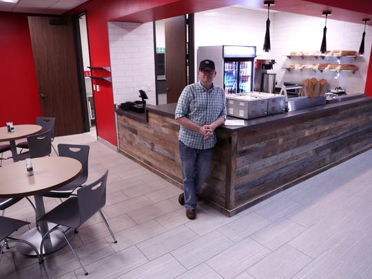 Kris Busk, owner and chef at Shoreline Sandwich Company,