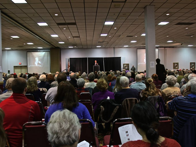Roughly 1,000 people listen to Oregon Congressman Greg