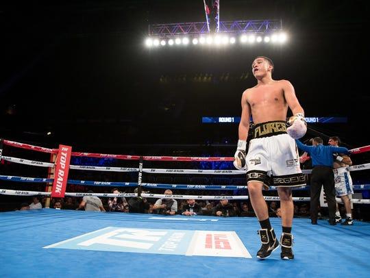 Gabriel Flores Jr. after defeating Alex Solorio during
