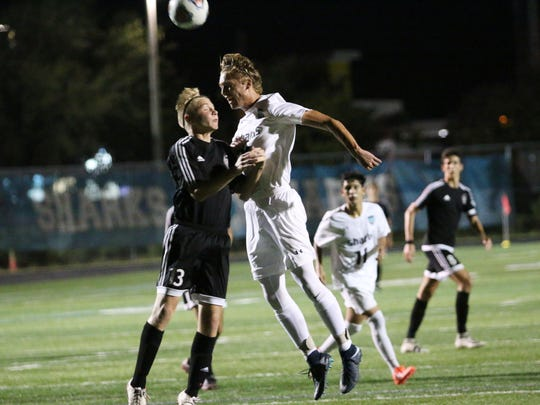 Action from the Class 4A Region 3 quarterfinal match between Gulf Coast and Braden River on Feb. 7, 2018. Gulf Coast advances to the semifinal on Saturday night after a 4-0 win over the Pirates.