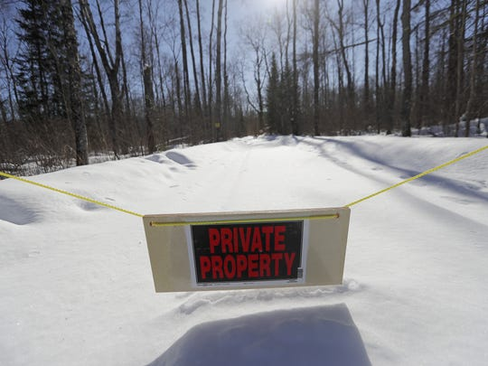 The driveway of a home near Bear Lake in Blackwell that the state wants to rent for a convicted sex offender. Neighbors, the county sheriff and some state agencies are opposed to the remote location in the Chequamegon-Nicolet National Forest in Forest County.