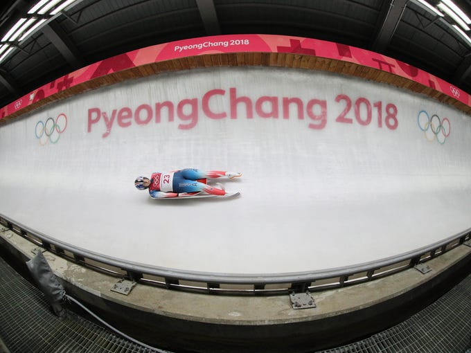 Emily Sweeney (USA) competes during the second run