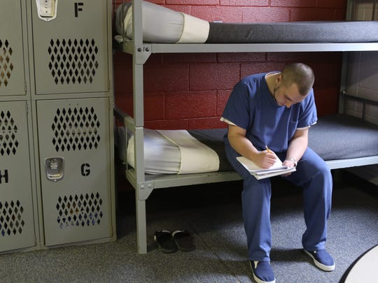 While in the Bergen County Jail, Thomas Sussina is studying toward his GED.