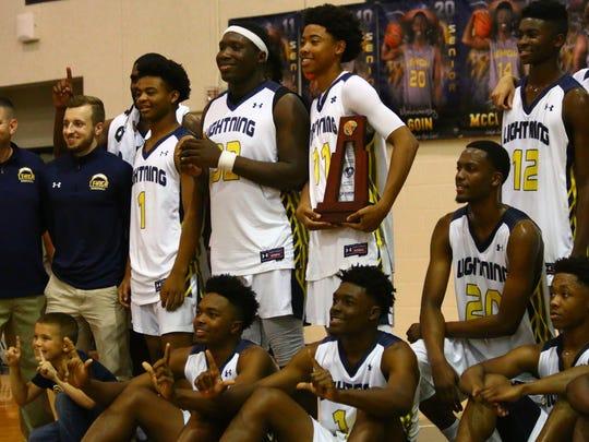 The Lehigh boys basketball team claimed the District