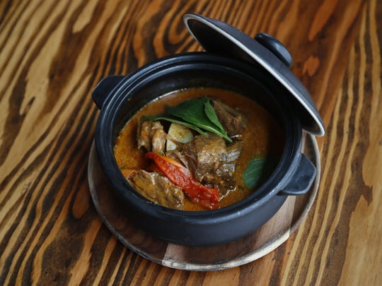 Panang Curry Beef dish at Glai Baan, a Thai restaurant