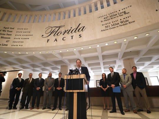 Senate President Joe Negron joins fellow legislative