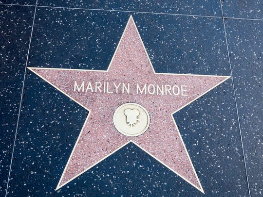 Marilyn Monroe's star is one of over 2600 that tourists