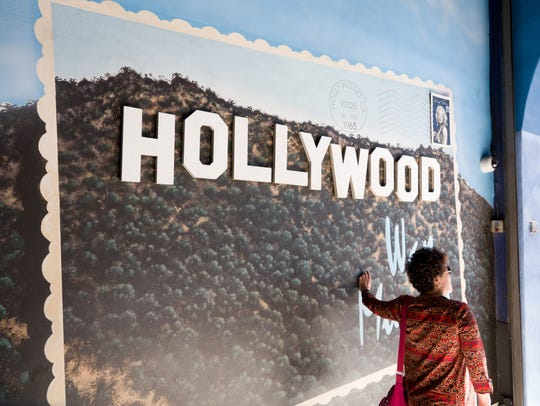 The Hollywood Wax Museum has a wall-size postcard for