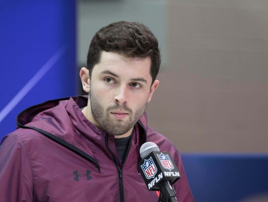 When he met the media at the scouting combine Friday,