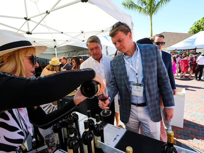 Jamie Lagarce samples one of the many wines available
