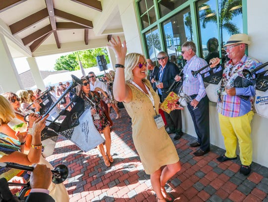 Renee Ciccarello gets jazzed up as she is welcomed