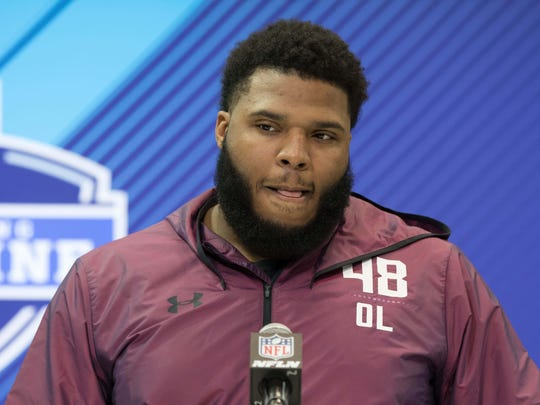The Colts need help on the interior of the offensive line badly, and maybe Georgia's hulking guard Isaiah Wynn is the answer.