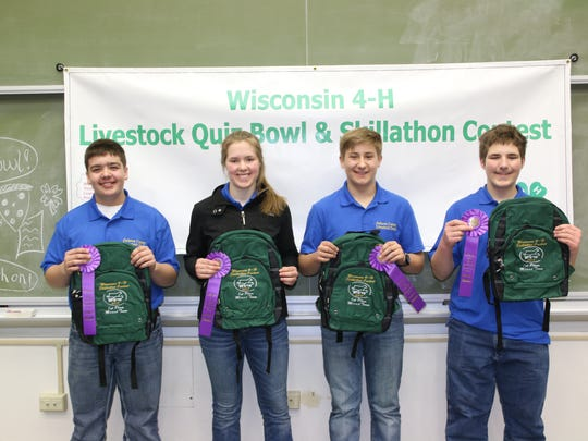 Jackson County took top honors in the Mixed Skillathon event. Team members include (from left) Austin Laufenberg, Rachel Moseley, Trent Laufenberg, Kaden Moseley.