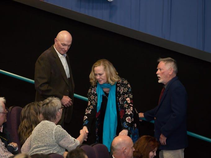 Cybill Shepard greets fan Kelly Malone after the screening
