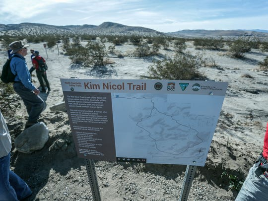 The newly opened Kim Nicol Trail at Desert Edge on Friday, March 9, 2018.