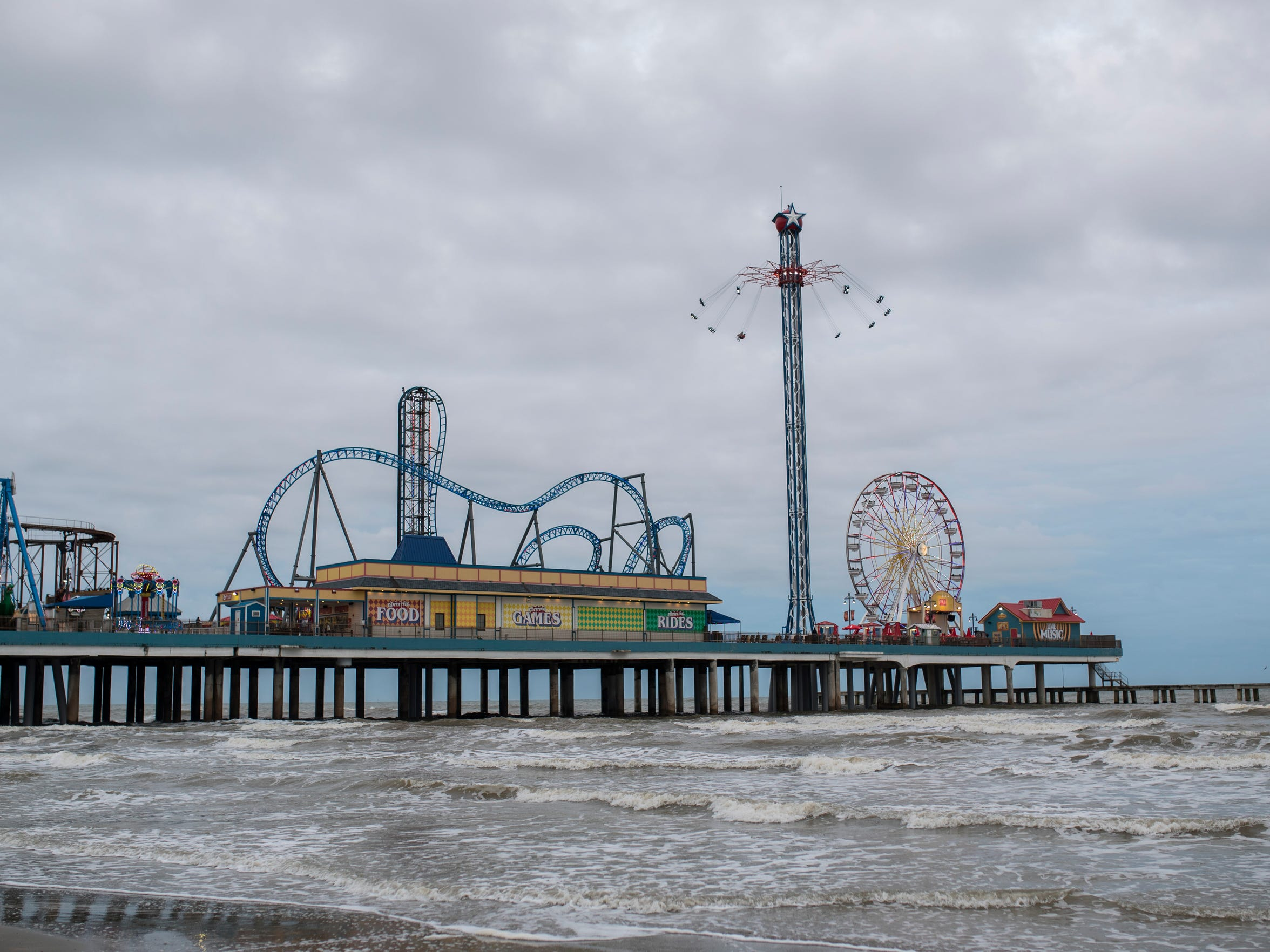 Galveston Island Historic Pleasure Pier on Saturday, March. 10, 2018 on on Galveston Island. The pier is a new addition to the Galveston area that came after Hurricane Ike.