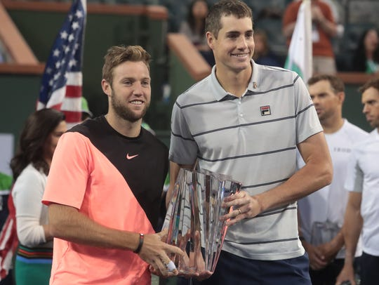 Jack Sock and John Isner are the winners of the BNP