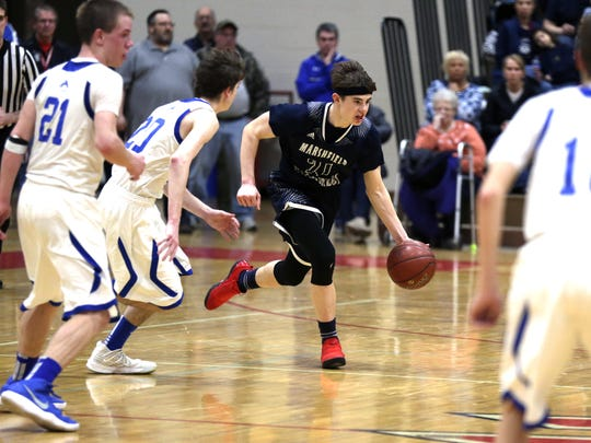 Columbus Catholic's Nick Malovrh helped the Dons finish one win short of a return trip to the WIAA state boys basketball tournament.