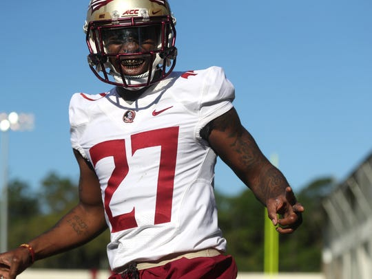 FSU's Zaquandre White during spring practice at the