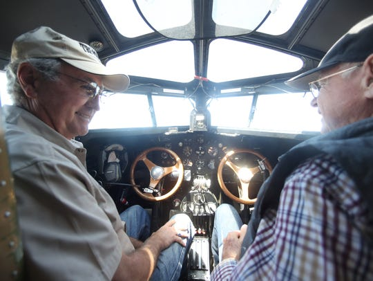Colin Soucy, left, and Tom Weller pilot the first-ever