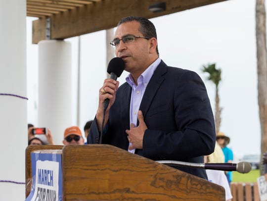 Abel Herrero speaks during the March for Our Lives