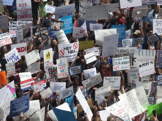 Thousands of people gather in the March for Our Lives movement at Florida's Capitol, joining millions around the nation and the world in support of gun law reform.