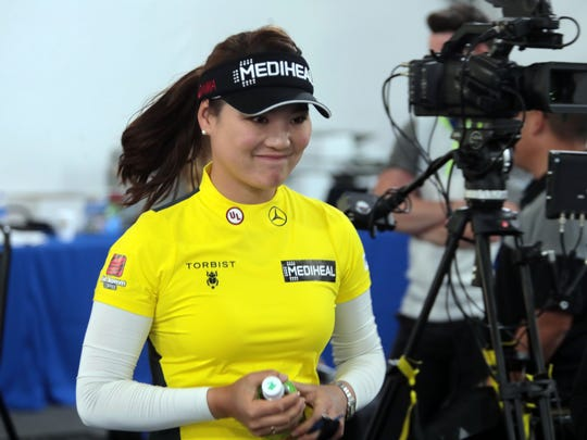 So Yeon Ryu at the media center at the ANA Inspiration on Tuesday, March 27, 2018 in Rancho Mirage.