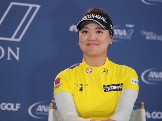 So Yeon Ryu speaks to media at the ANA Inspiration on Tuesday, March 27, 2018 in Rancho Mirage.