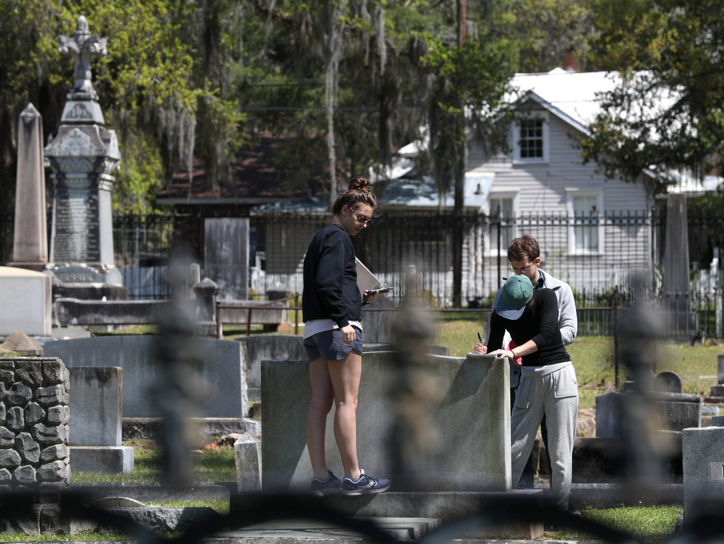 "Students from FSU's ""Cities and Cemeteries""  class"