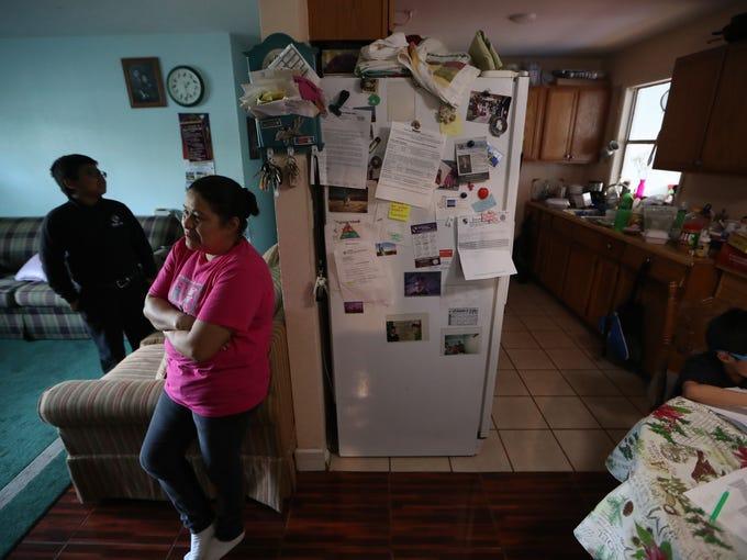 Gladis de la Cruz at her Quincy home on Thursday, Feb.