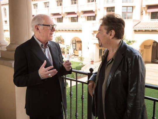 Director Barry Levinson, left, and actor Al Pacino