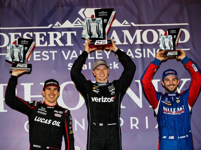 Apr 7, 2018; Avondale, AZ, USA; IndyCar driver Josef