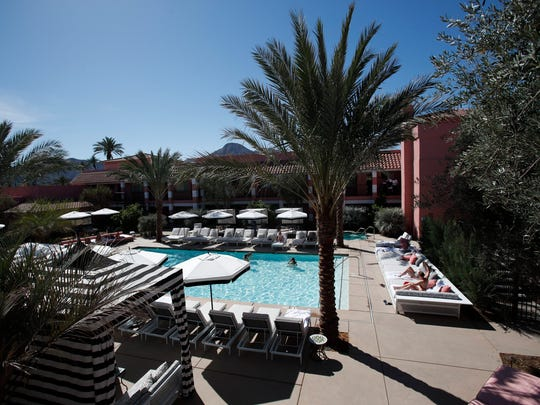 The newly renovated Sands Hotel and Spa in Indian Wells includes a new swimming pool and outdoor lounge area.