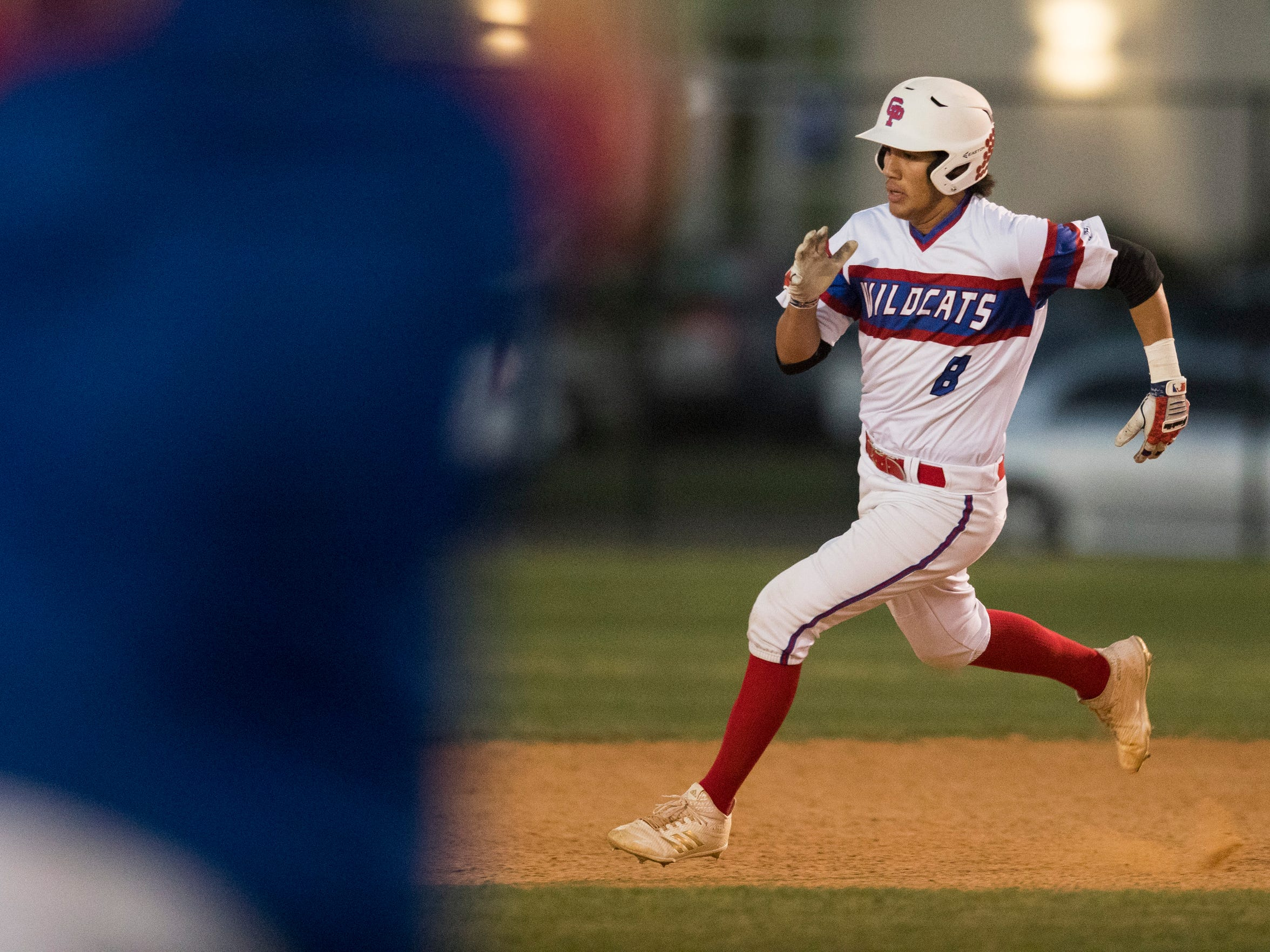 Austin Ochoa, seen here with the Gregory-Portland baseball team last April, came to Refugio in the summer and expressed interest in only playing baseball.