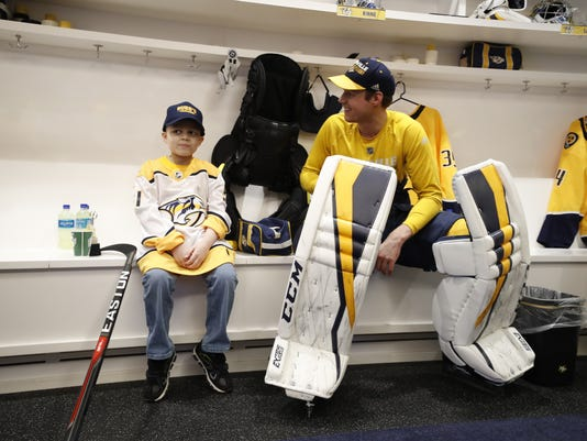 Devin Roque and Pekka Rinne
