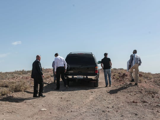Lt. Governor Gavin Newsom on a tour of the Salton Sea