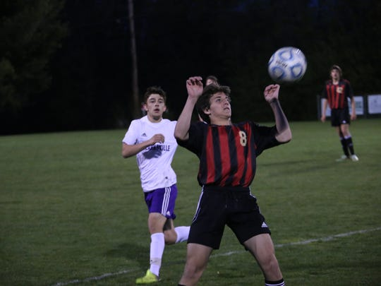 Rossview's Papa Alessandro (8) waits for the ball in