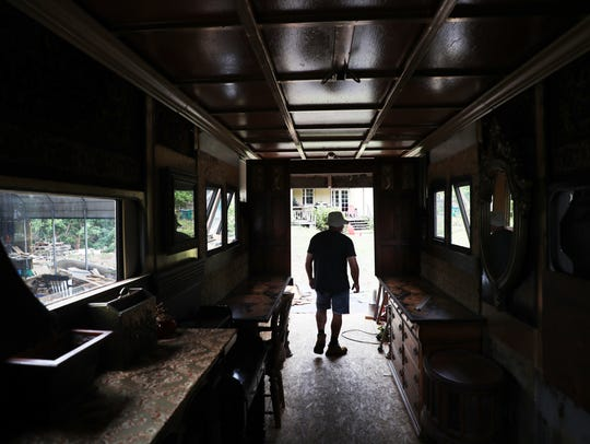 Naples resident David Carlyle transforms horse trailers into tiny homes that look like Victorian train cars