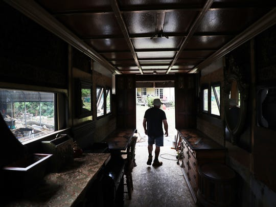 Naples resident David Carlisle transforms horse trailers into tiny homes that look like Victorian train cars