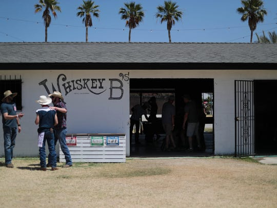 Festival-goers enjoy Whiskey B's at the 2018 Stagecoach