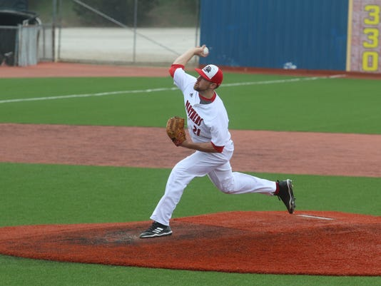 Drury senior pitcher Austin Simms