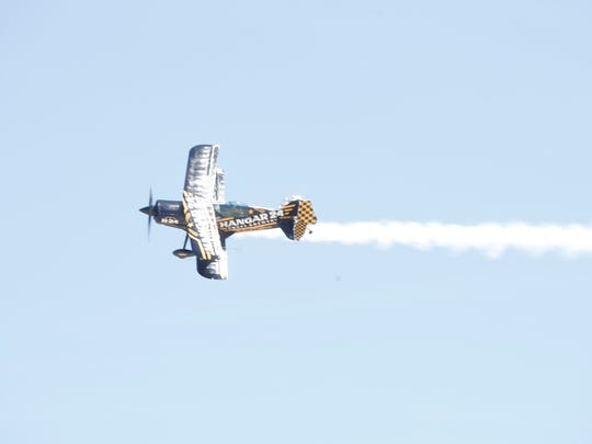 Acrobatic pilots perform during the 2018 Jacqueline