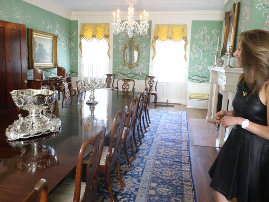 First Lady, Tammy Murphy in the dining room.