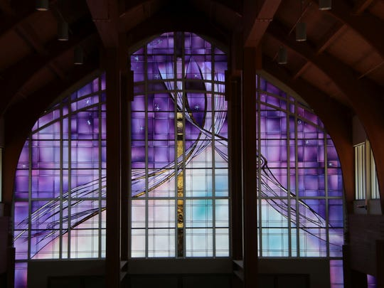 The window at Fond du Lac's Holy Family Catholic Church was designed by Elizabeth Devereaux of Chico, California.