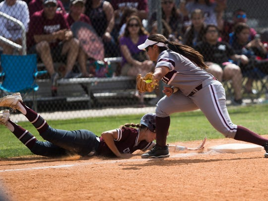 Flour Bluff vs. Calallen during their playoff game on May12, 2018, at Flour Bluff High School.