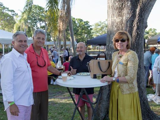 Loren Coyle, left, Chris Lecakes, Chris Luciano and