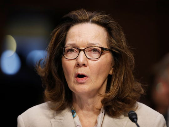 CIA nominee Gina Haspel testifies during a confirmation