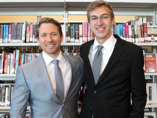 Lucas Richardsen, left, with Mentor Nicholas Swartz.